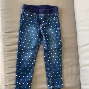 NWOT Cat and Jack Heart Print Jeggings